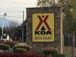 KOA Road Sign