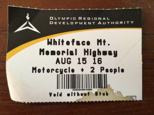 Whiteface Ticket