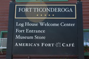 Fort Ticonderoga Welcome Sign