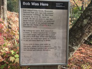 Bob Was Here Sign