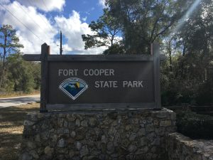 Fort Cooper Entry Sign