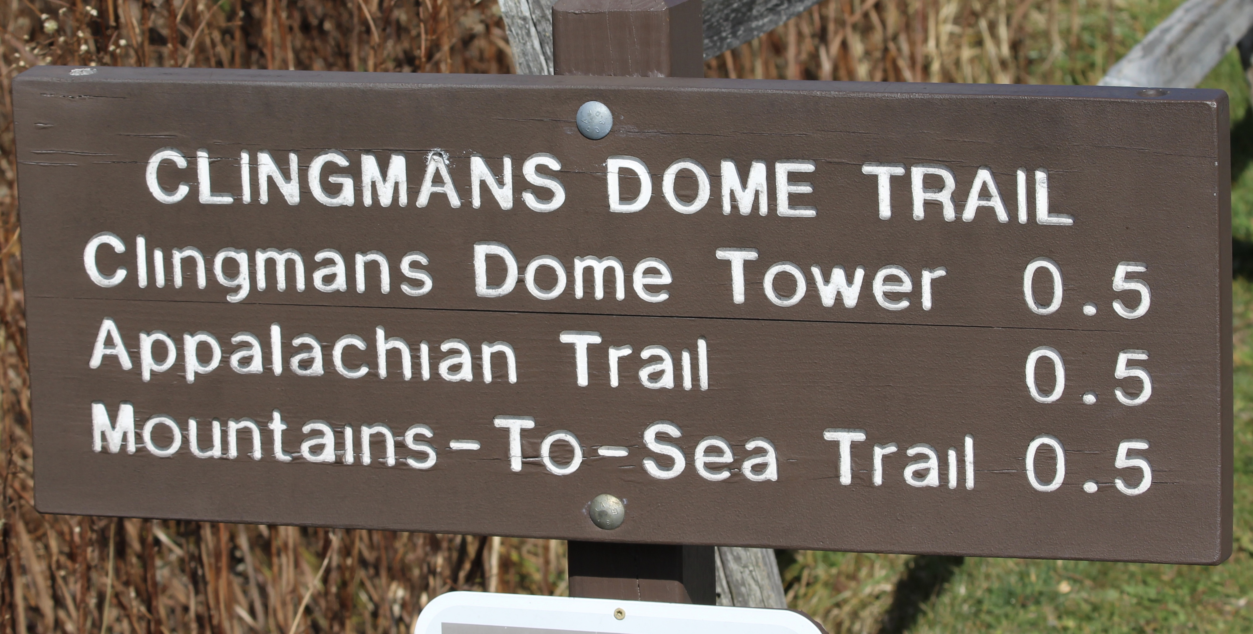 Clingmans Dome Sign