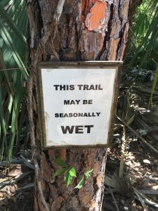 Wet Trail Sign