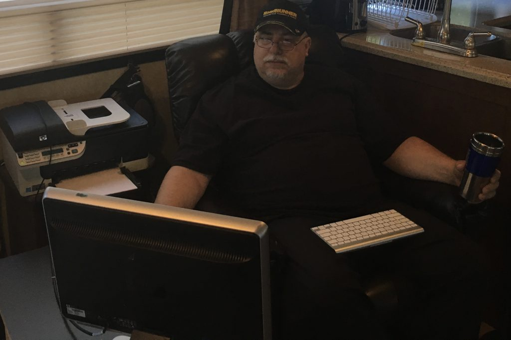 Working At The Computer