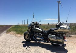 Motorcycle and Wind Turbines