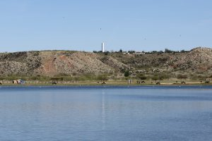 View Across Water At Picnic Area