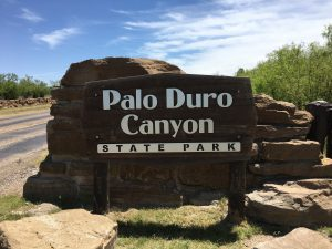 Palo Duro Entrance Sign