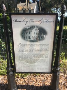 Bourlay Family Home Sign