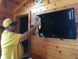 Cleaning Cabins