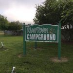 River Town Campground Sign