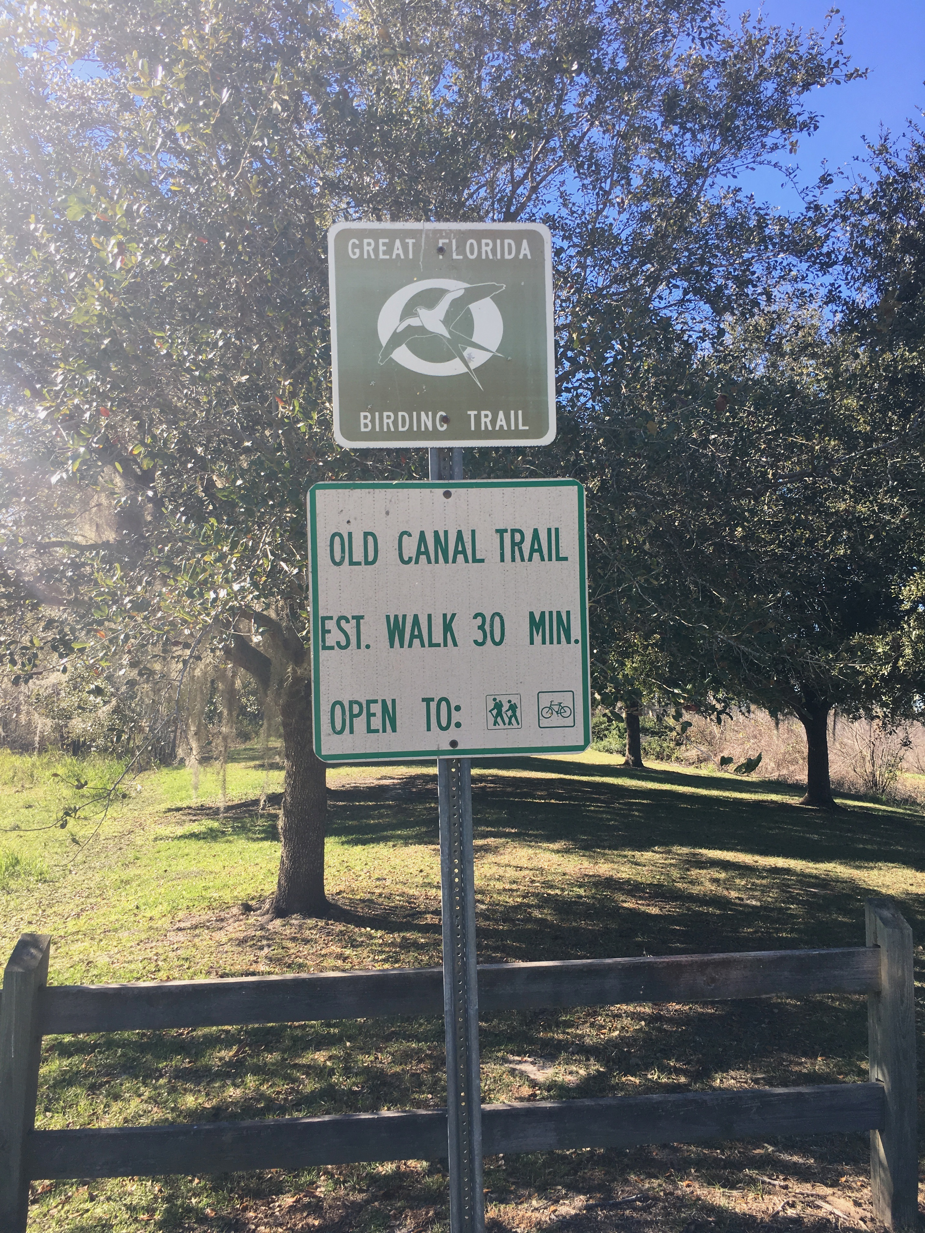 Old Canal Trail Sign
