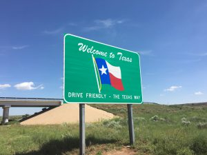 Texas Welcome Road Sign