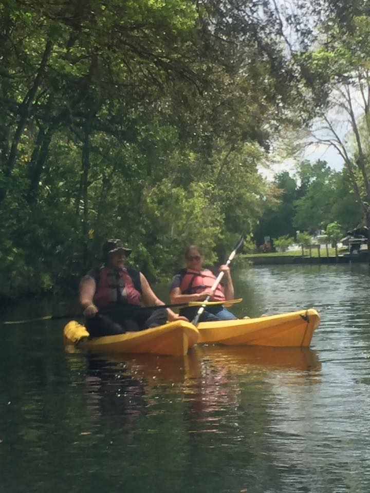 Dennis And Chris In Kayaks