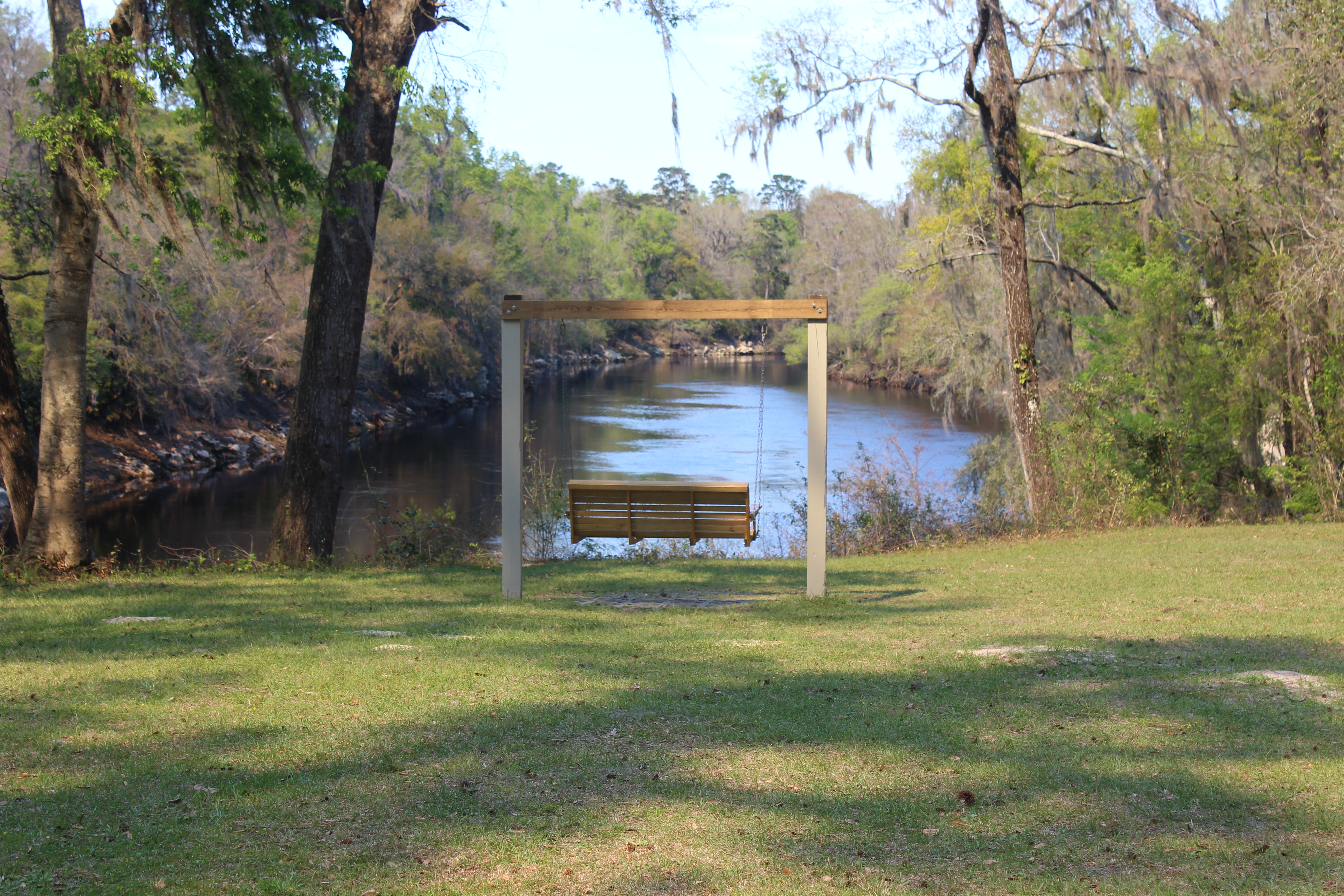 View Of The Suwannee River Behind The Swing