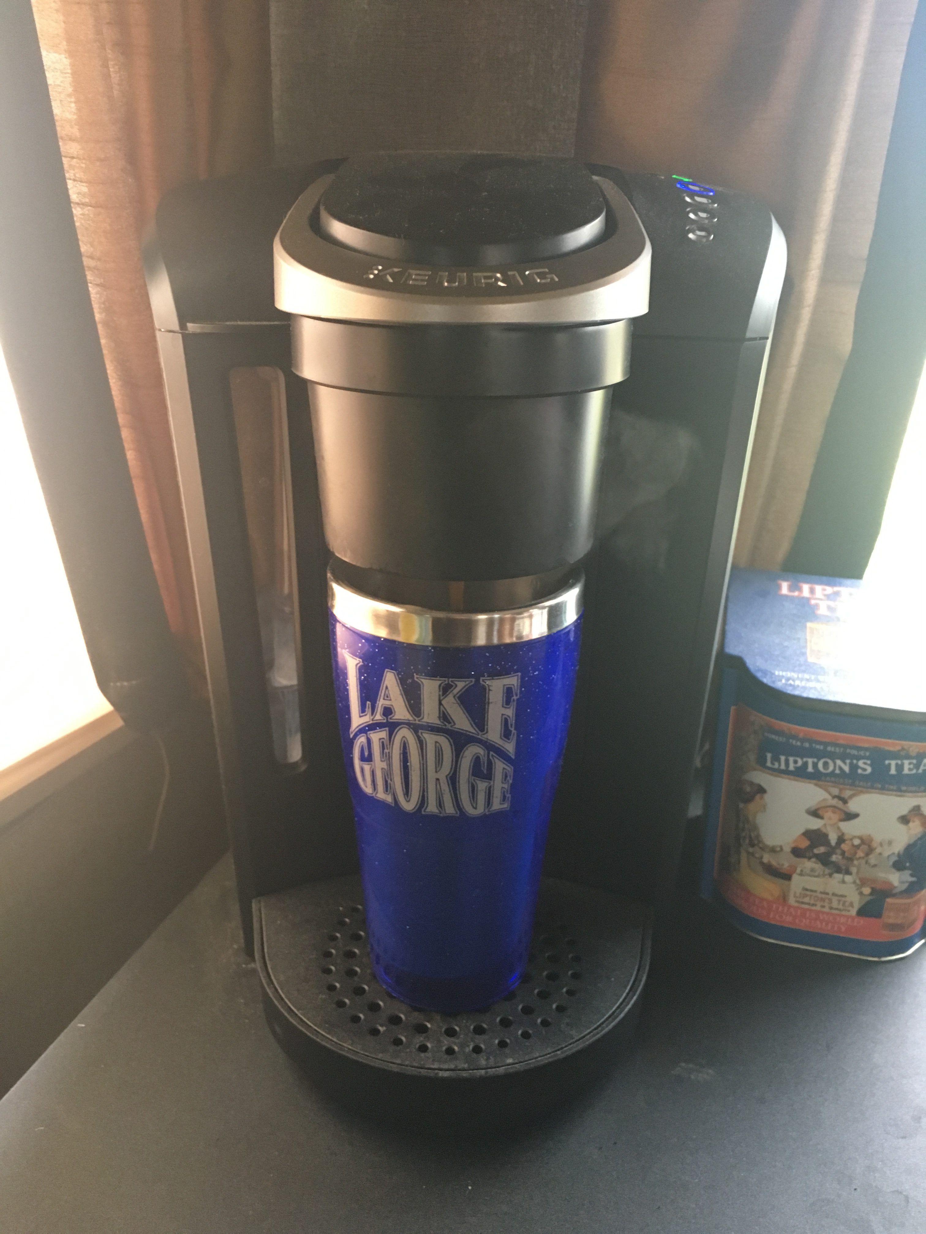 Keurig With Travel Mug