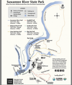 Suwannee River State Park Map