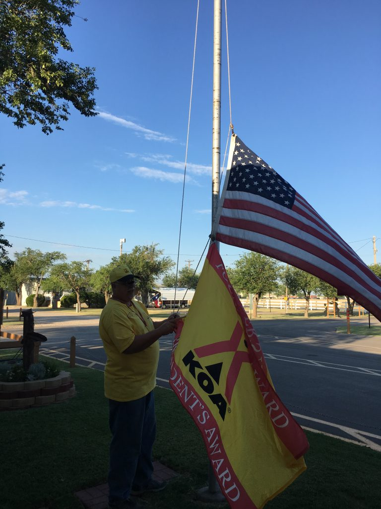 Putting Up The Flag