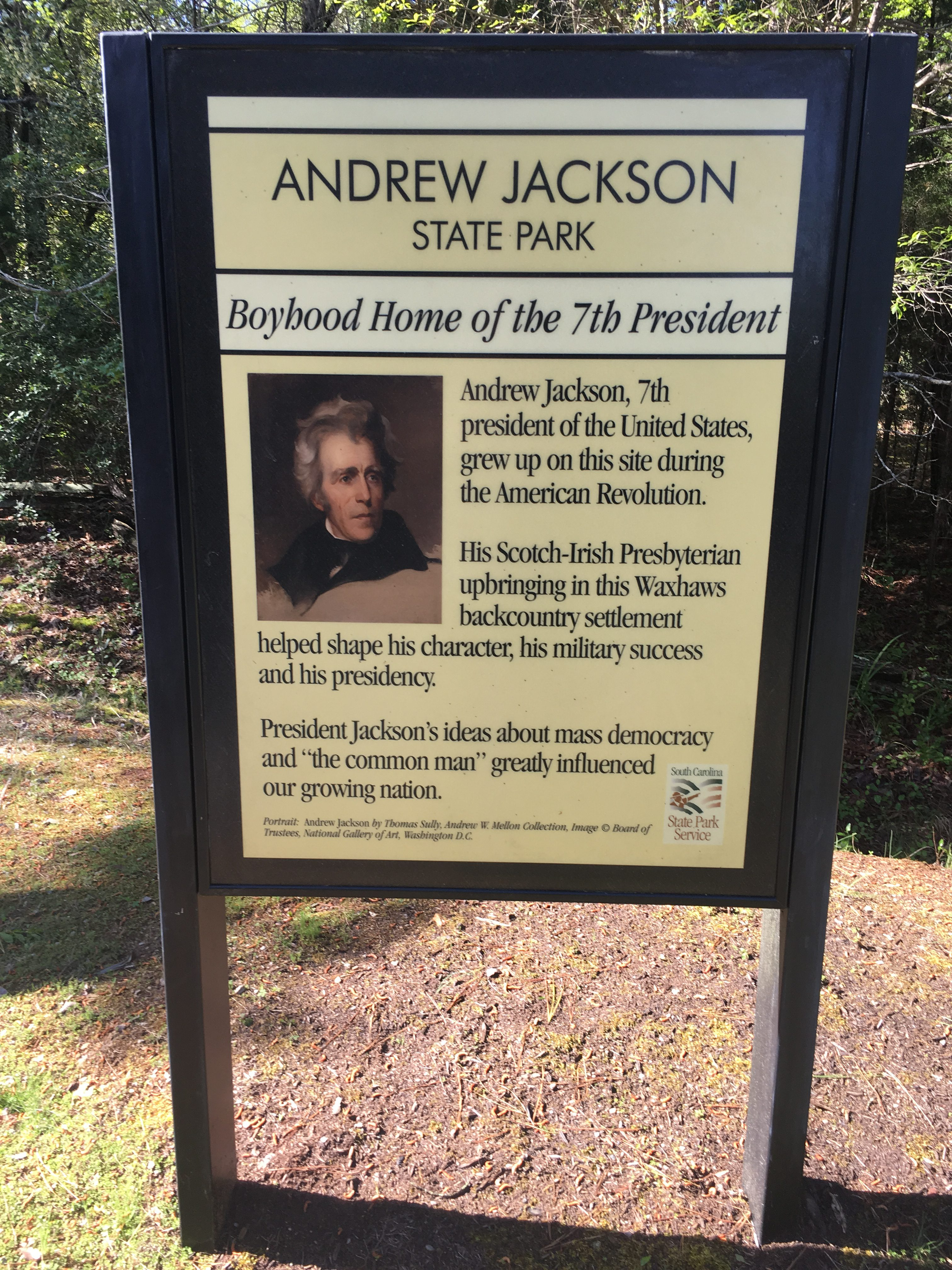 Andrew Jackson Entrance Sign