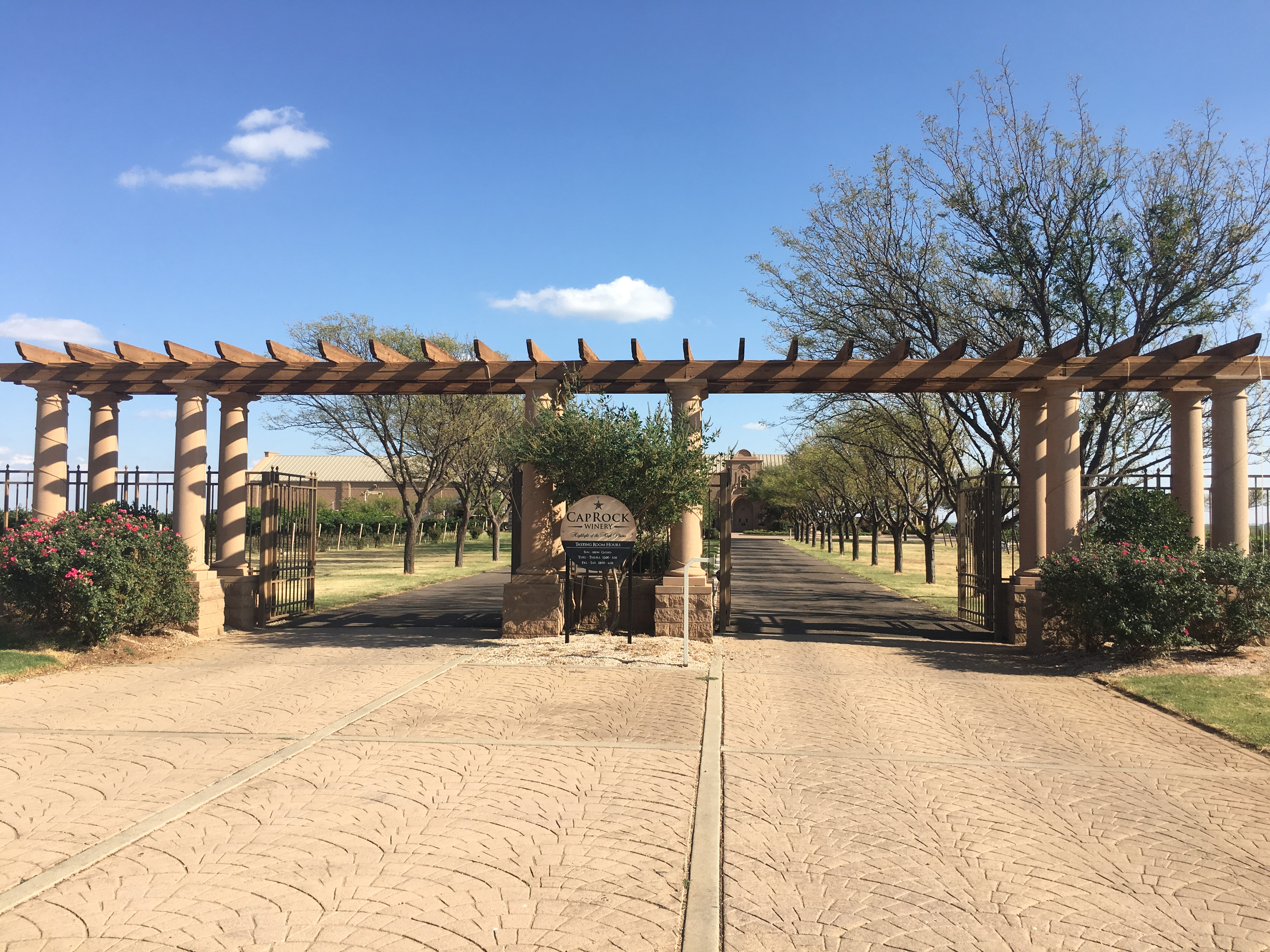 Entranceway To CapRock Winery