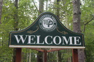 Whispering Pines Sign