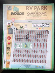 The Woods Site Map