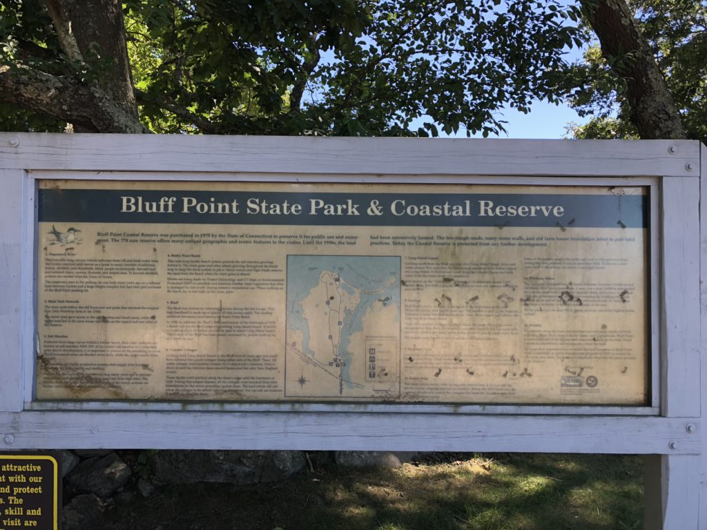 Bluff Point Sign