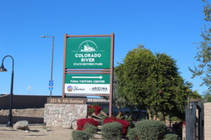 Colorado River State Historic Park Sign