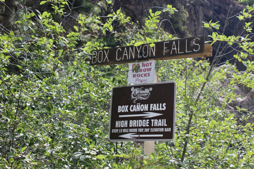 Box Canyon Sign