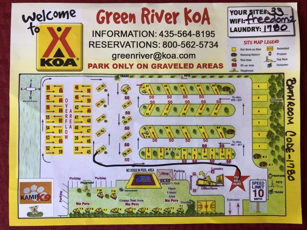 Green River Site Map