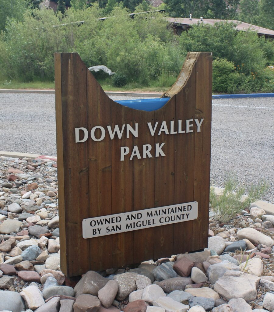 Down Valley Park Sign