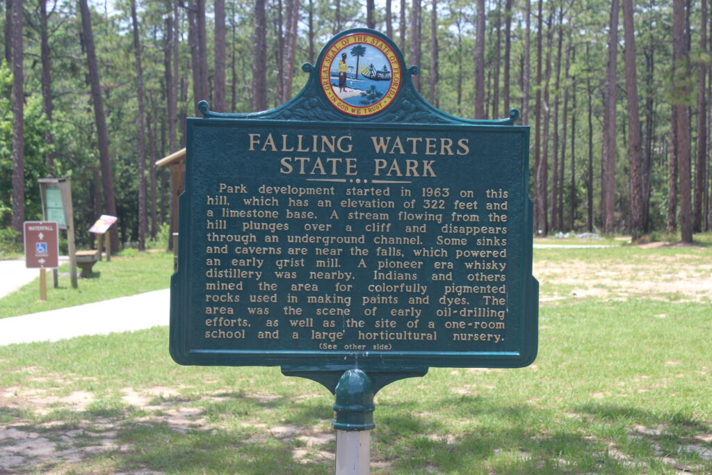 Falling Water Sign