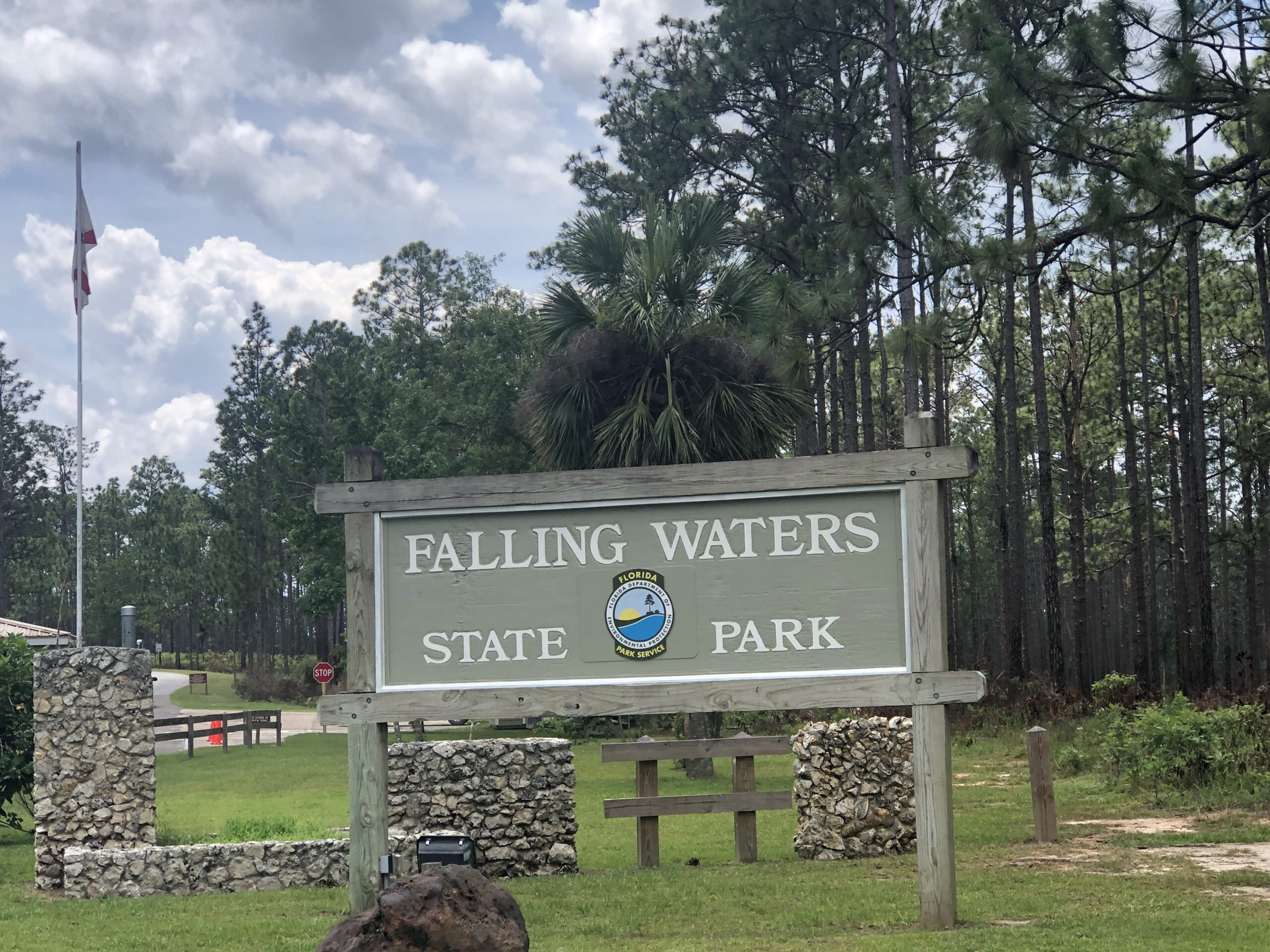 Falling Waters State Park Entrance Sign