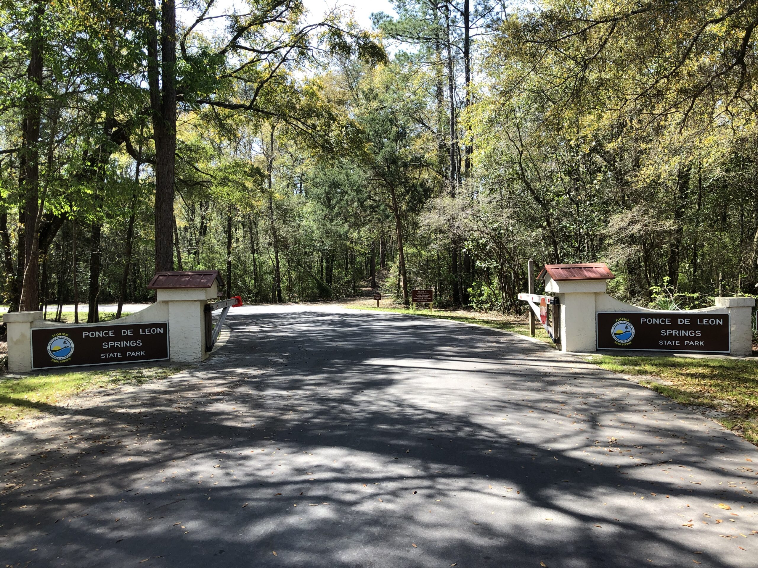 Ponce de Leon State Park Entry Sign