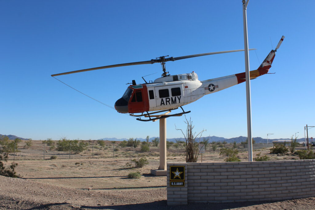 Helicopter On A Pole
