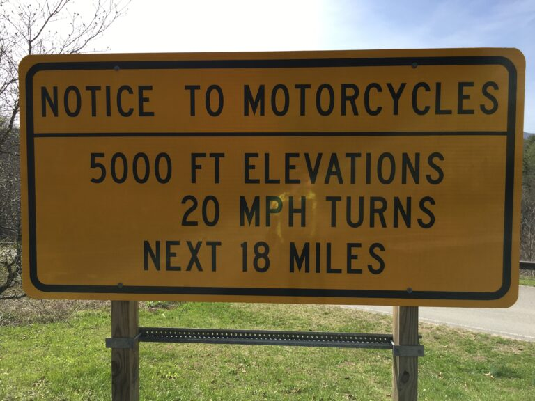 Notice To Motorcycles Sign